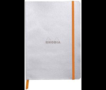 Rhodia Rhodiarama Notebook 5.5x8.3 Silver Dot Grid