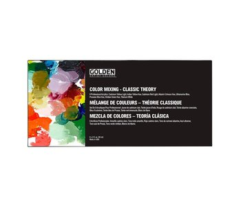 Golden Acrylic Color Mixing Classic Theory Set 8Pk