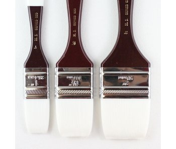 HJ SERIES 920 BRUSH WHITE TAKLON FLAT 1""