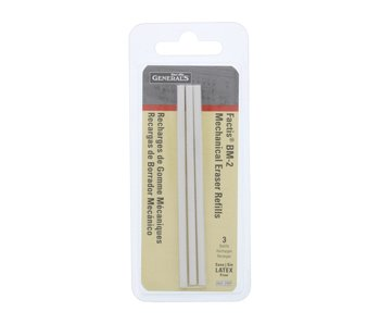 General's Factis Eraser Pen Refill 3Pk