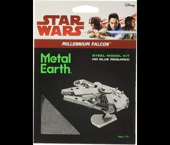 METAL EARTH 3D MODEL SILVER: STAR WARS MILLENIUM FALCON