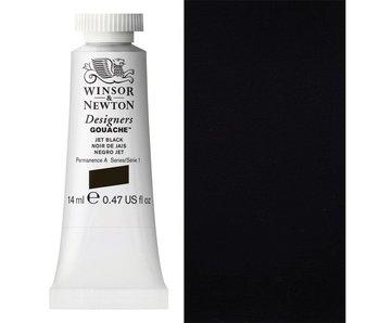W&N DESIGNERS GOUACHE 14ML JET BLACK