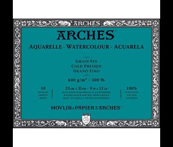 ARCHES WATERCOLOUR BLOCK COLD PRESS CP 300LB 10x14