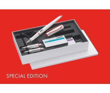 LAMY JOY CALLIGRAPHY PEN SET WHITE WITH RED CLIP