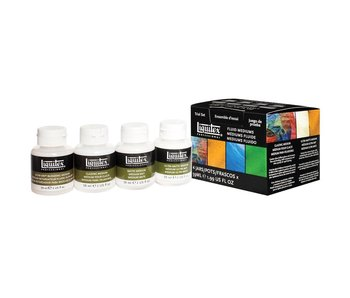 LIQUITEX FLUID MEDIUMS 4 JARS