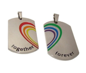 TOGETHER FOREVER RAINBOW PENDANTS - SET OF 2