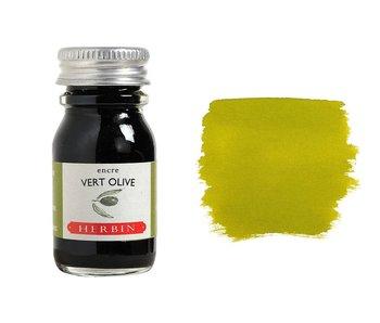 J. HERBIN FOUNTAIN PEN INK 10ML VERT OLIVE/GREEN OLIVE