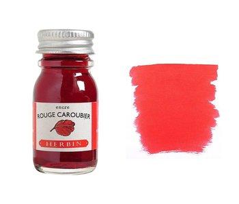 J. HERBIN FOUNTAIN PEN INK 10ML ROUGE CAROUBIER/RUBY RED