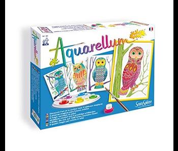 AQUARELLUM JUNIOR - MAGIC CANVAS OWLS