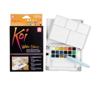 KOI WATER COLORS POCKET FIELD SKETCH BOX 36PK