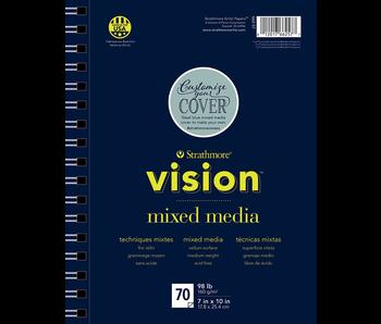 STRATHMORE VISION MIXED MEDIA 98LB 70 SHEETS 7X10