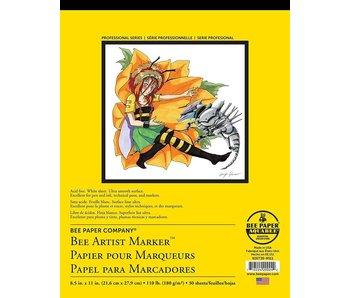 BEE PAPER ARTIST MARKER PAD MANGA 30 SHEETS 8.5x11