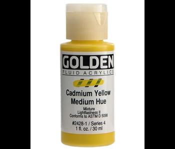 Golden 1oz Fluid Cadmium Yellow Medium Hue Series 4