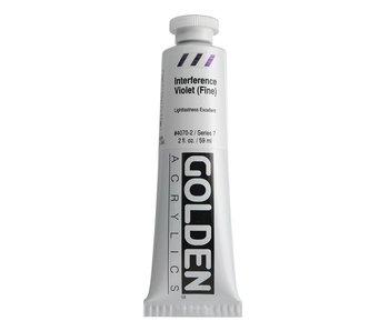 Golden 2oz Interference Violet (Fine) Heavy Body Series 7