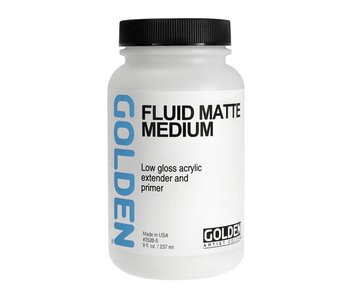 Golden Medium 8oz Fluid Matte Medium