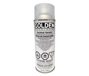 Golden Aerosol 10oz Archival Varnish Satin