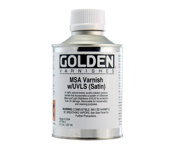 Golden Medium 8oz Msa Varnish W/ UVLS (Matte)