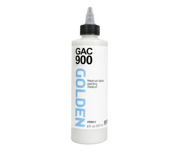 Golden Medium 8oz Gac 900 Heat-Set Fabric Painting Medium
