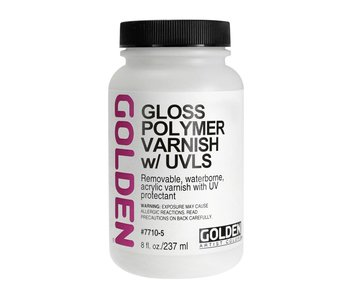 Golden Gloss Polymer Varnish w/UVLS  8oz