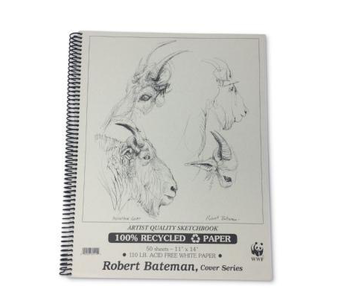 ROBERT BATEMAN RECYCLED SKETCHBOOK 11X14