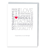 DESIGN WITH HEART CARD - WEDDING - MRS & MRS BRIDES
