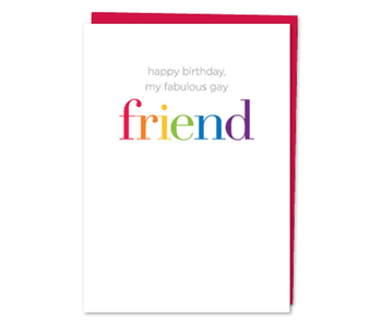 DESIGN WITH HEART CARD - BIRTHDAY - GAY FRIEND