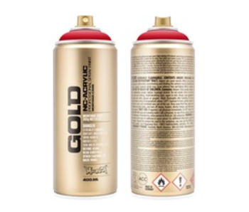 MONTANA GOLD SPRAY PAINT 400ML SHOCK RED