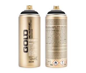 MONTANA GOLD SPRAY PAINT 400ML SHOCK BLACK