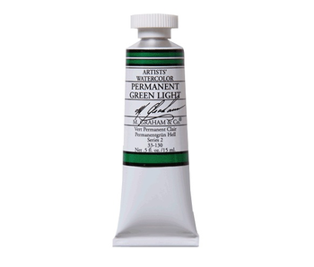 M. GRAHAM WATERCOLOUR 15ML PERMANENT GREEN LIGHT