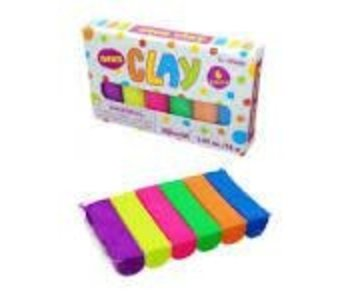 NEON CLAY TOYSMITH 6 COLOUR PK