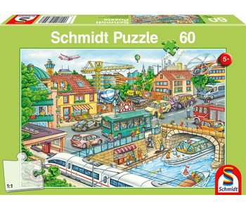 SCHMIDT PUZZLE 60: VEHICLES AND TRAFFIC