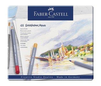 FABER CASTELL Goldfaber Aqua 48 Colour Tin