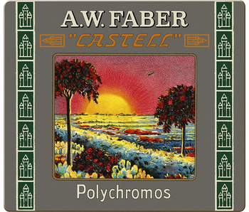 A.W. Faber Castell Polychromos Artists Colored Pencil Retro Tin 24 Regular Length