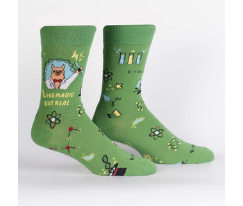 SOCK IT TO ME: MEN'S CREW SOCKS TRUST ME, LLAMA SCIENTIST