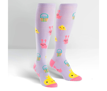 SOCK IT TO ME: KNEE HIGH FUNKY HOPPY EASTER