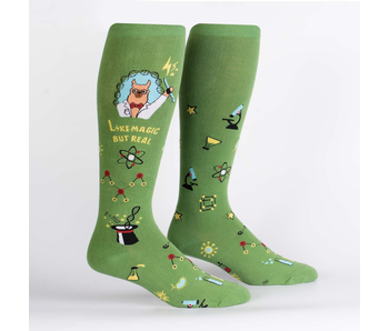 SOCK IT TO ME: STRETCH-IT KNEE HIGH TRUST ME, LLAMA SCIENTIST