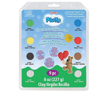 Sculpey Pluffy Soft Fluffy Modelling Clay Primary Variety Pack 8 * 1oz