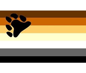 BEAR PRIDE FLAG FRIDGE MAGNET