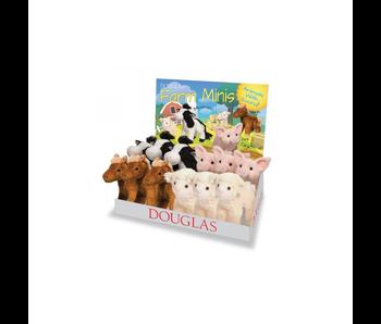 DOUGLAS CUDDLE TOY PLUSH FARM MINIS - SHEEP, COW, HORSE, PIG - WITH SOUND
