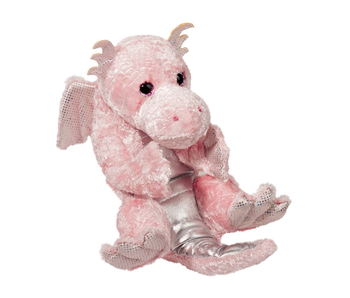 DOUGLAS CUDDLE TOY PLUSH PINK DRAGON LIL HANDFUL