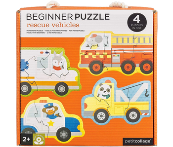 PETITCOLLAGE BEGINNER PUZZLE: RESCUE VEHICLES