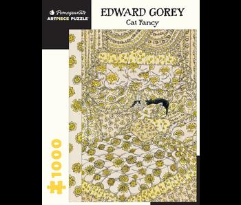 POMEGRANATE ARTPIECE PUZZLE 1000 PIECE: EDWARD GOREY CAT FANCY