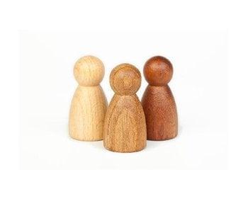 Grapat Wood Nins: 3 Woods - Beech, Oak, Sapeli