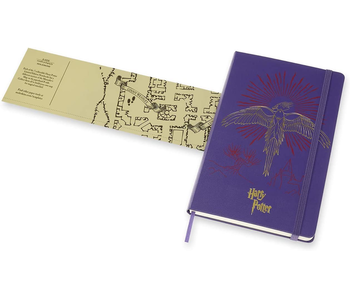 "Moleskine Hardcover Ruled 5 x 8.25"" 13x21 cm Harry Potter Purple Limited"
