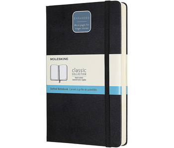 """Moleskine Hardcover Dotted 5 x 8.25"""" 13x21 cm Double thick 400 pages"""