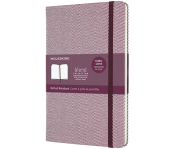 """Moleskine Hardcover Dotted 5 x 8.25"""" 13x21 cm Fabric Cover Burgundy"""