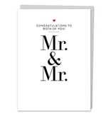 DESIGN WITH HEART CARD - WEDDING - MR & MR