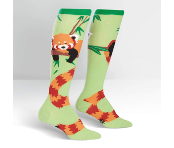 SOCK IT TO ME: STRETCHY KNEE HIGH SOCK - RED PANDA