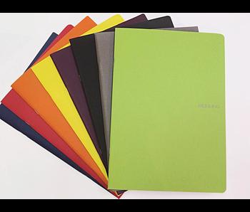 FABRIANO ECOQUA NOTEBOOK STAPLED 8.5x11.5 GRID A4 BLACK