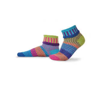 Solmate Socks Adult Ankle Bluebell Large